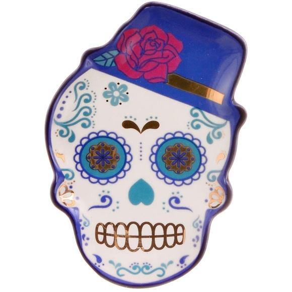 NEW Mr. Macabre Sugar Skull Trinket Tray